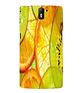 Fuson Premium Back Case Cover Fruits With Multi Background Degined For One Plus One::One Plus1