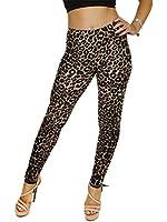 Women Wet Look Plain & Different Print Leggings Size S M L XL