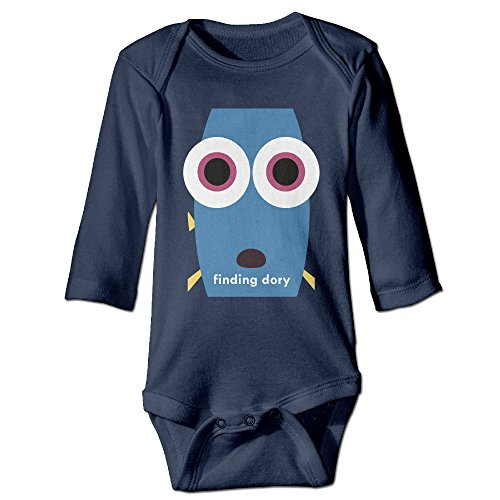 HYRONE Finding Ellen DeGeneres Dory Baby Bodysuit Long Sleeve Romper Suits Size 18 Months Navy (Brad And Taylor Knife Sharpener compare prices)