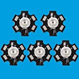 Led World 10 PCS 3W Deep Red High Power 660NM Plant Grow LED Emitter Light with 20mm Star Base