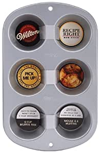 Amazon.com - Receta Derecha 6 Copa Muffin Pan Regular -