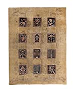 CarpeTrade Alfombra Vintage Persian Collage (Beige/Negro)