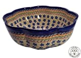 Classic Boleslawiec Pottery Hand Painted Ceramic Salad Bowl 3 litres / 6 pints 070-U-076