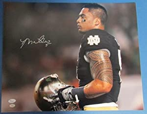 Manti Teo Notre Dame Fighting Irish Autographed Signed 16x20 Photo JSA W426099