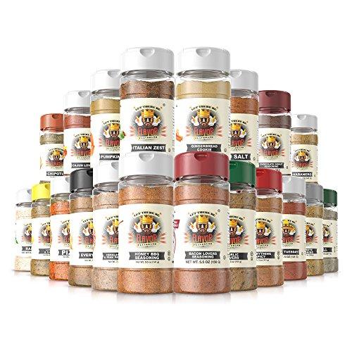 #1 Best-Selling 5oz. Flavor God Seasonings - Gluten Free, Low Sodium, Paleo, Vegan, No MSG (Chef Spice Rack, 20 Bottles) (Hot Sauce Organizer compare prices)