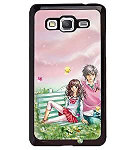 Printvisa Romantic Couple Surrounded By Flowers Back Case Cover for Samsung Galaxy Core Prime G360