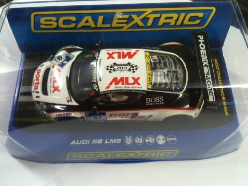 Scalextric C3236 Audi R8 LMS Team Phoenix Racing 2011 Range Presentation 1:32 Scale Slot Car by Scalextric