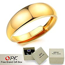 buy Handmade Jewelry 18K Yellow Gold Plated Ring Unisex Engagement Ring
