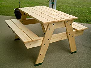 """Chrisman Mill Farms Child's Heirloom Wood Picnic Table, 31"""" X 35"""" X 18"""", Unfinished by Chrisman Mill Farms, LLC"""