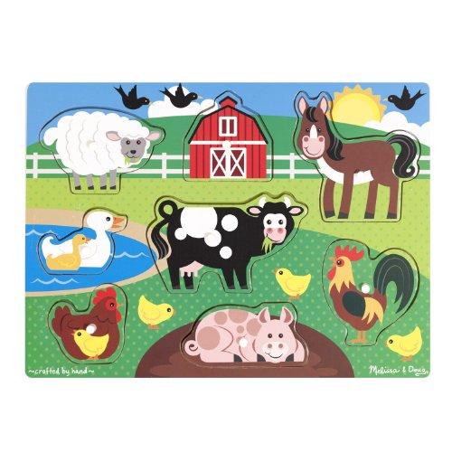 Melissa & Doug Farm Peg Puzzle - 1