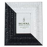 Royal Frames Photo Frame Synthetic Material(Black&White, 24 Cm * 29 Cm)