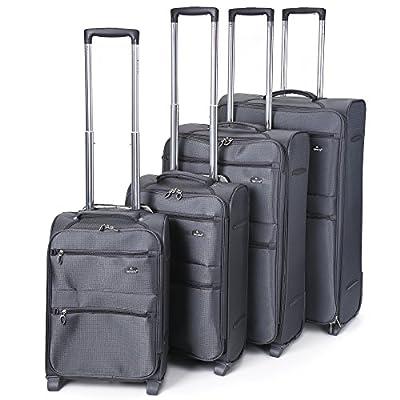 Aerolite Ultra Lightweight 4 Wheel London Collection Luggage Set from Aerolite