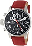 Invicta Force Men's Lefty Quartz Watch with Black Dial Chronograph Display and Red Nylon Strap 11517