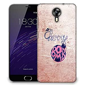 Snoogg Cherry Bomb Designer Protective Back Case Cover For Meizu M2