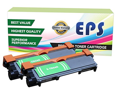2 Pack - EPS Replacement Brother TN660 Black Toner Cartridges (Eps Replacement Toner Cartridge compare prices)