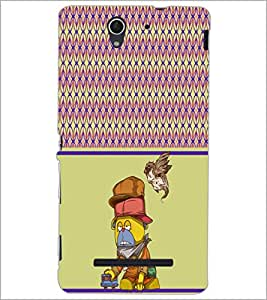 PrintDhaba Cartoon D-4317 Back Case Cover for SONY XPERIA C3 (Multi-Coloured)