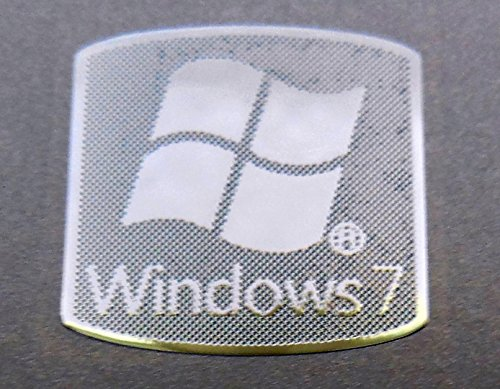 Microsoft Windows 7 Polished Metal Sticker 18 x 18mm [807] (Windows Xp Sticker compare prices)