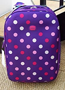 Purple Polka Dot Smallest Travel Luggage Suitcase Carry On Hand Cabin On Wheels Cabin Approved Trolly Light Weight