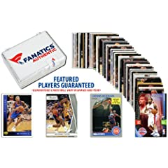 Detroit Pistons Team Trading Card Block 50 Card Lot - Memories - Mounted Memories... by Sports Memorabilia