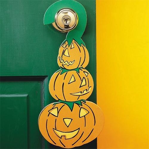 Halloween Pumpkin Doorknob Hangers Craft Kit