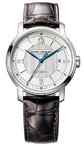 名士克莱斯麦 银雕盘蓝针 自动机械腕表 $1675  Baume & Mercier Men's 8791