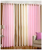 Kanha 3 Piece Polyester Classic Window Curtain - 5ft, Pink