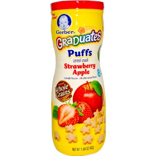 Gerber Graduates Puffs Strawberry Apple -- 1.48 oz