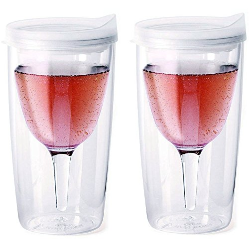 Vino2Go 2 Pack Double Wall Acrylic Tumbler  Frost