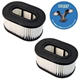 HQRP 2-Pack Washable & Reusable Hepa Filter for Hoover Fold Away Widepath Bagless / Runabout Upright Vacuum Cleaner plus HQRP Coaster
