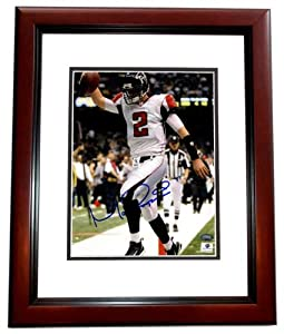 Matt Ryan Autographed Hand Signed Atlanta Falcons 8x10 Photo MAHOGANY CUSTOM FRAME by Real Deal Memorabilia