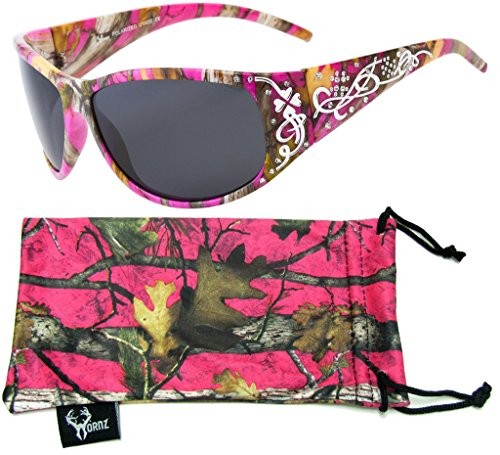 Fantastic Deal! Hornz Women's Pink & Hot Pink-Purple Camouflage Polarized Sunglasses Country Gir...