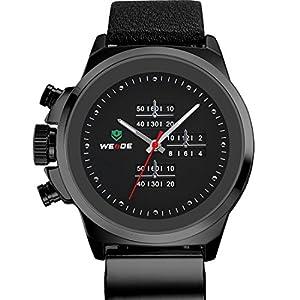 New WEIDE Original Men Sports Watch Japan Miyota Quartz Movement Leather Strap Wristwatch