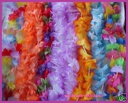 Large Petal 36 Flower Leis 1 dozen