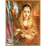 "Dolls Of India ""Rajput Princess"" Reprint On Paper - Unframed (29.21 X 23.50 Centimeters)"