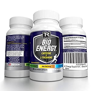 #1 Rated Nootropic Energy Supplement ● 100% Natural And Guaranteed Most Potent Energy Booster And Focus Enhancer ● Top Rated Ingredients L-Theanine (For Focus) + Caffeine (For Energy) | 60 Vcaps