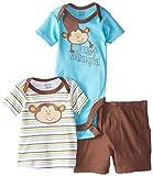 Gerber Baby Boys' 3 Piece Bodysuit Shirt Short Set