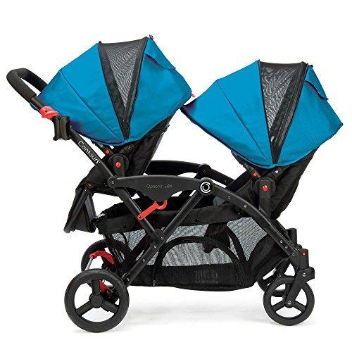 Blue Contours® Double Tandem Stroller, Reversible
