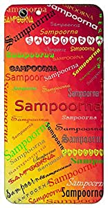 Sampoorna (Complete) Name & Sign Printed All over customize & Personalized!! Protective back cover for your Smart Phone : Moto G-4-Plus