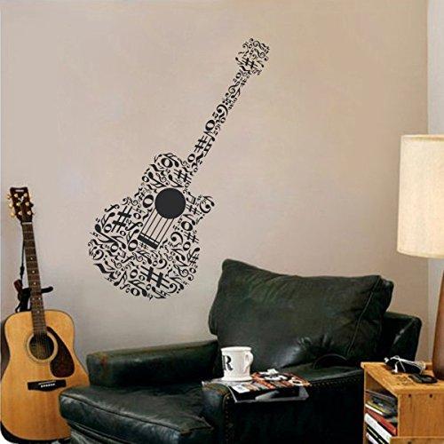 musik-wandtattoo-wandbild-gitarre-decor-noten-vinyl-junge-madchen-schlafzimmer-dekoration-vinyl-schw