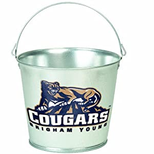 Buy NCAA Brigham Young Cougars 5-Quart Galvanized Pail by WinCraft