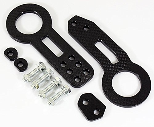 JDM 1SET CNC Billet Kit Front & Rear Universal TOW HOOK BLACK X3T (Rear Bumper 2003 Trailblazer compare prices)