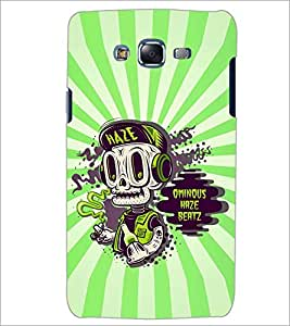 PrintDhaba SKULL QUOTE D-6882 Back Case Cover for SAMSUNG GALAXY J7 (Multi-Coloured)