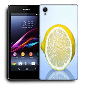 Snoogg Lemon Printed Protective Phone Back Case Cover For Sony Xperia Z1