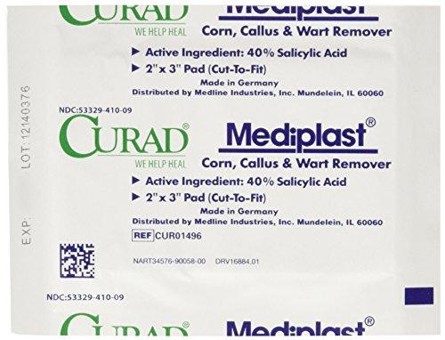 Curad Mediplast Corn, Callus & Wart Remover, 2 pads (Salicylic Acid Callus Remover compare prices)
