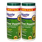 51ZoV74JG7L. SL160  Equate   Fiber Powder, Clear Soluble, 180 Servings, 24.6 oz (Compare to Benefiber)