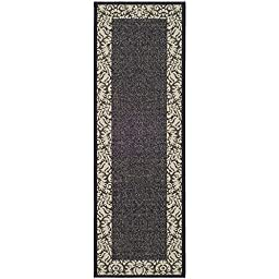Safavieh Courtyard Collection CY2727-3908 Black and Sand Indoor/ Outdoor Runner, 2 feet 3 inches by 10 feet (2\'3\