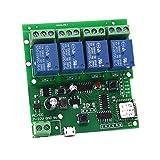 4 Channel WIFI Momentary Inching Relay Self-lock Switch Module,DIY WIFI Garage Door Controller (5-32V) (Tamaño: 74.3*72.7*24mm)