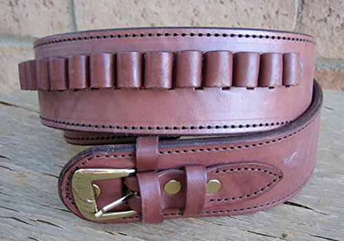 NEW! Brown Deluxe Cartridge Belt Style 44/45 LC Ammo Loops Western Cowboy Gun Pistol By GUNS4US (Guns4us Inc compare prices)