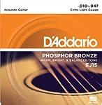 D'Addario Cordes en bronze phosphoreu...