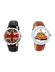 Gledati Men's Multicolor Dial And Foster's Women's White Dial Analog Watch Combo_ADCOMB0001890